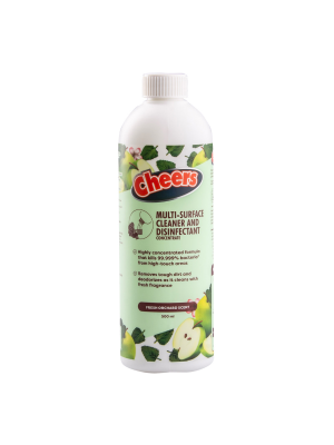 Cheers Multi-Surface Cleaner and Disinfectant Concentrate (500ml Bottle)
