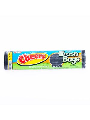Cheers Extra Extra Large Size Black Trash Bag - 10 Bags (Pack of 2)