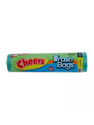 Cheers Large Size Green Trash Bag -10 Bags (Pack of 3)