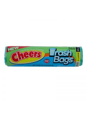 Cheers Extra Large Size Green Trash Bag - 10 Bags (Pack of 3)