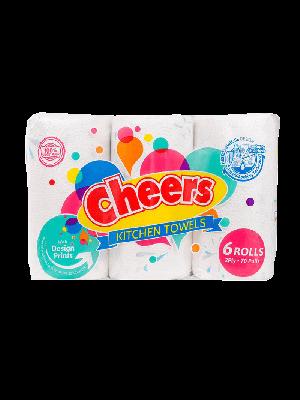 Cheers Regular Kitchen Towel (6 Rolls)