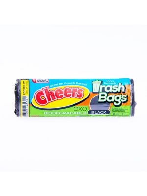 Cheers Medium Size Black Trash Bag - 10 Bags (Pack of 3)