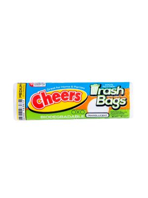 Cheers Medium Size Translucent Trash Bag - 10 Bags (Pack of 3)