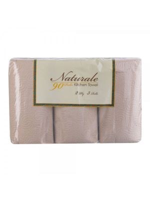 Naturale Kitchen Towel - 3 Rolls (Pack of 2)
