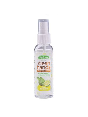 Sanicare Clean Hands Alcohol Spray - Zesty Bergamot (Pack of 3)