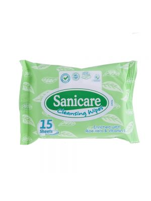 Sanicare Cleansing Wipes 15 Sheets (Pack of 5)
