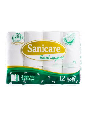 Sanicare Ecolayers Bathroom Tissue (12 Rolls)