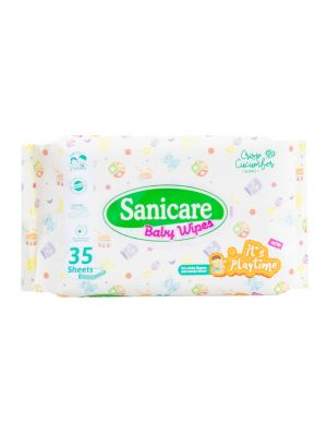 Sanicare Its Playtime Wipes 35 Sheets (Pack of 3)