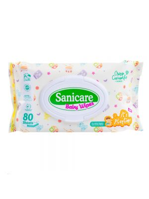 Sanicare It's Playtime Wipes 80 Sheets (Pack of 3)