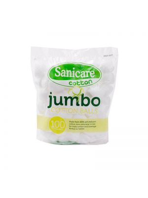 Sanicare Jumbo Cotton Balls 100s (Pack of 5)