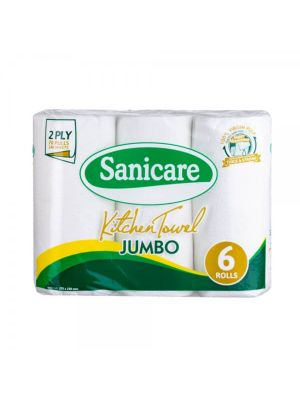 Sanicare Jumbo Kitchen Towel (6 Rolls)