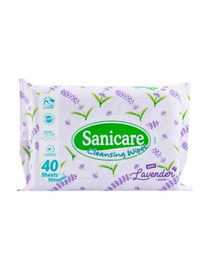Sanicare Lavender Cleansing Wipes 40 Sheets (Pack of 3)