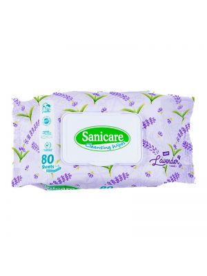 Sanicare Lavender Cleansing Wipes 80 Sheets (Pack of 3)