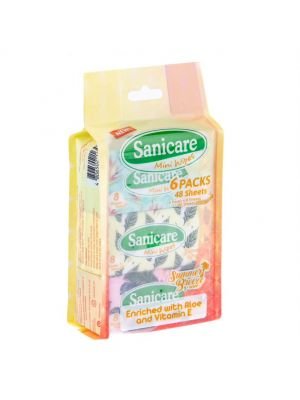 Sanicare Mini Wipes - 48 Sheets (Pack of 2)