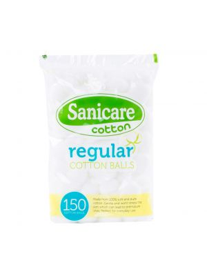Sanicare Regular Cotton Balls 150 Balls (Pack of 5)
