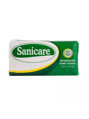 Sanicare Regular 1 Ply Interfolded Paper Towel (Pack of 3)