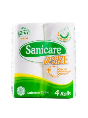 Sanicare Upsize Bathroom Tissue 4 Rolls (Pack of 2)