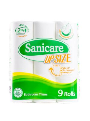 Sanicare Upsize Bathroom Tissue (9 Rolls)
