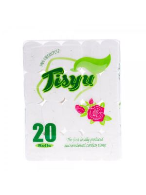 Tisyu Coreless Bathroom Tissue - 20 Rolls (Pack of 2)