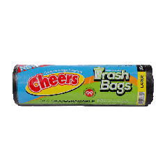Cheers Extra Large Size Black Trash Bag - 10 Bags (Pack of 3)
